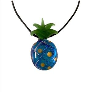 Glass Pineapple Pendant Necklace